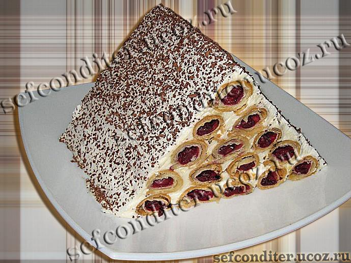 Рецепт торта горка с вишнями